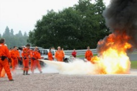 British Motorsport Marshals Club training at Oulton Park